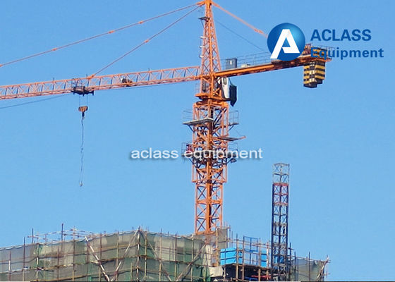 China 65m Jib Construction Hammerhead Tower Crane 1.8t Tip Load Counter Weight distributor