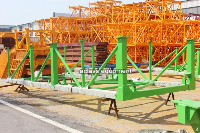 10 ton 60m Jib Fixed Tower Crane With Spare Parts , Internal