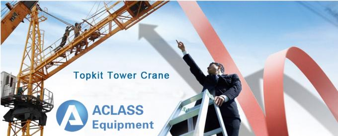Outside Hydraulic Telescopic Tower Crane For Civil Construction Projects