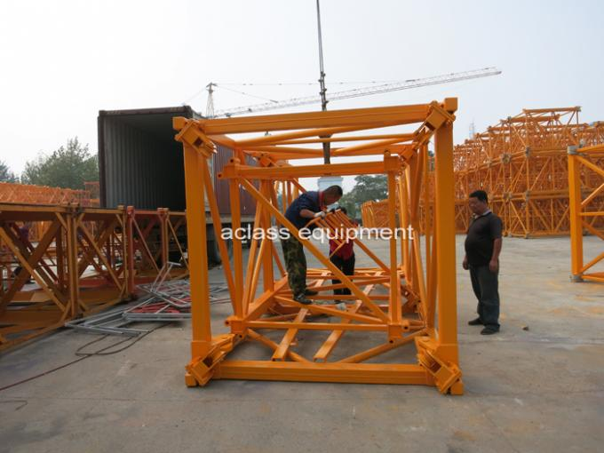 6 Ton 56m Topkit Fixed Tower Crane  Boom with Spare Parts Wire Rope
