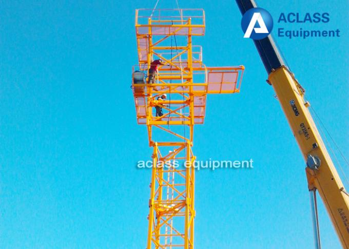6 ton 56m Hammerhead Tower Crane  Heavy Construction Equipment  with Wire Rope