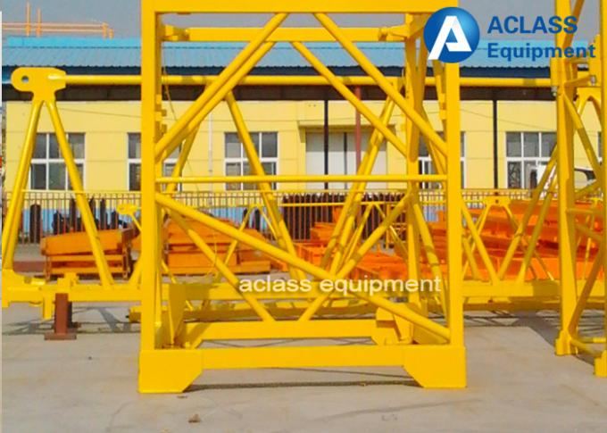 Self Climbing Topless Tower Crane 6 ton Colorful Hoist Heavy Construction Equipment