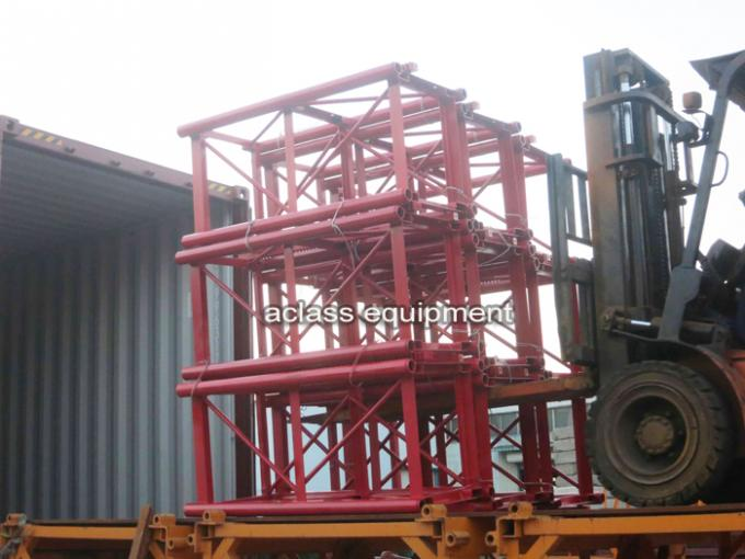 VFD Control Building Man / Material Construction Site Elevator 0-42m/min Middle Speed 4t