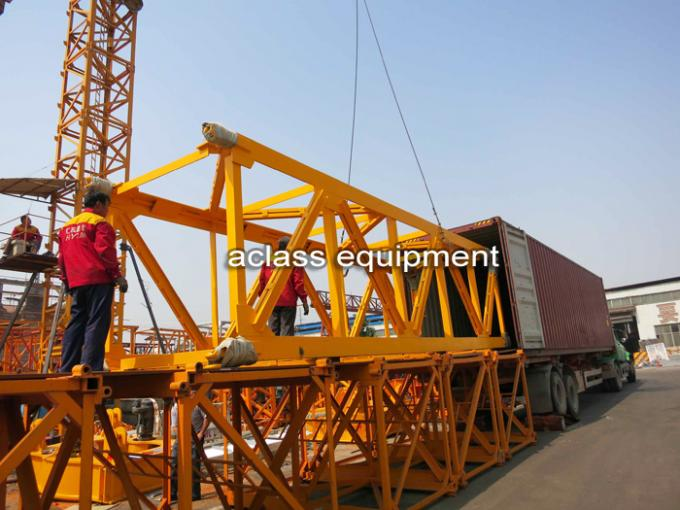 Large 12 Tons External Climbing Tower Crane With Luxury Cab Operation Room