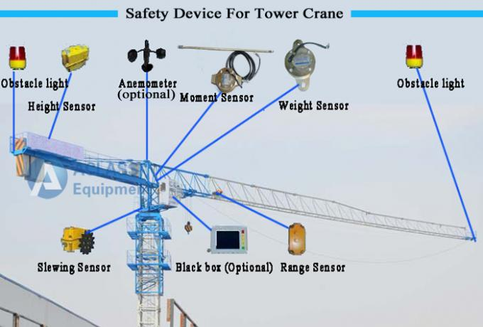 10 Ton Topless Tower Crane Pt6518 65m Jib With Potain 3m Mast Section