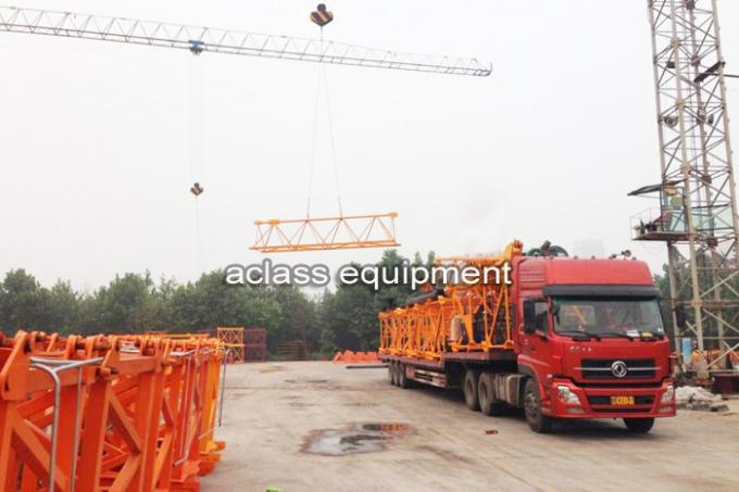 Self - Elevating Internal Climbing Tower Crane Boom Length 50m 6 ton