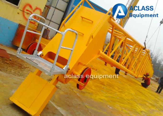 High Storey Buildings Luffing Jib Crane Heavy Equipment With 10t Load Capacity