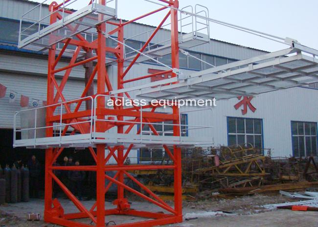 60 m Luffing Jib Tower Crane Boom Length 16 Tons For Civil