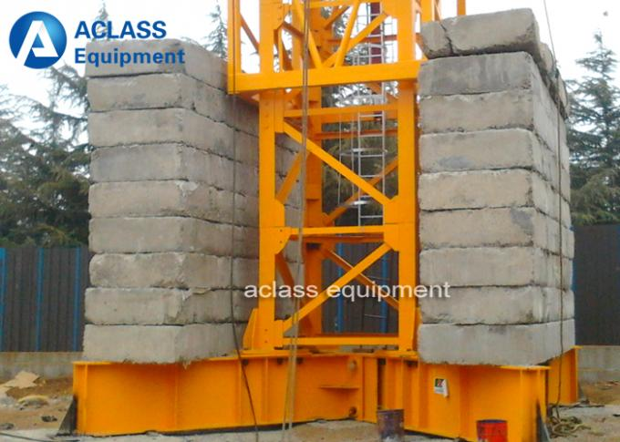 25 ton 50m Luffing Jib Construction Tower Crane Wire Rope Lifting Heavy Equipment