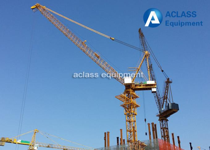 VFD / Remote Control Luffing Jib Tower Crane 16 ton , Construction Lifting Equipment