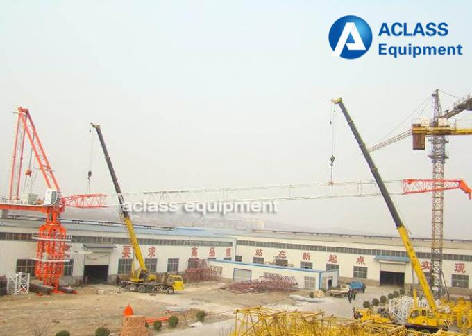 QTD300 Luffing Jib Tower Crane With LVF Variable Frequency Hoist Mechanism