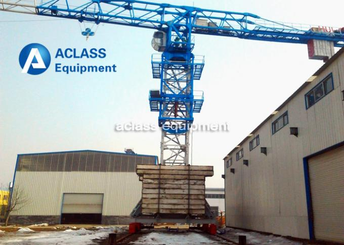 Lifting Heavy Equipment Traveling Tower Crane With 10 ton Max. Load Capacity