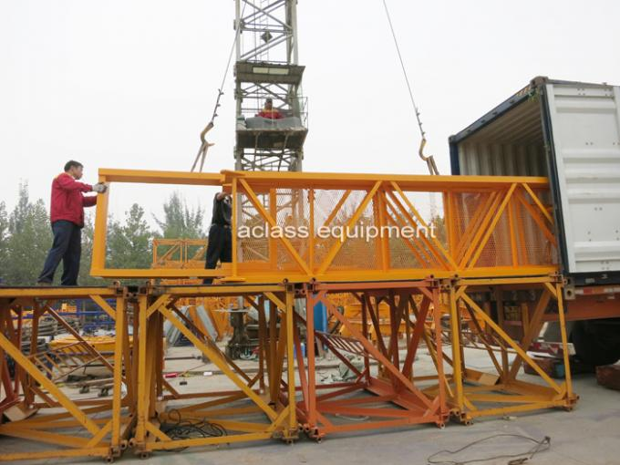 Electric Construction Tower Crane 56m JIB QTZ80 Fixed And Out Climbing Type