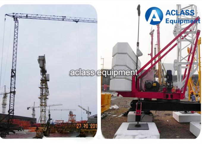 QTK25 Self Rising Tower Cranes Mini Self - Erection Grue For Construction
