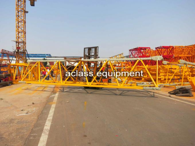 65m Jib Construction Hammerhead Tower Crane 1.8t Tip Load Counter Weight