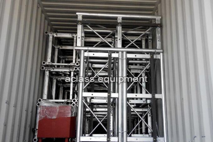 SC50 Small Building Construction Hoist Elevator Lifts Single Cage 500kg load